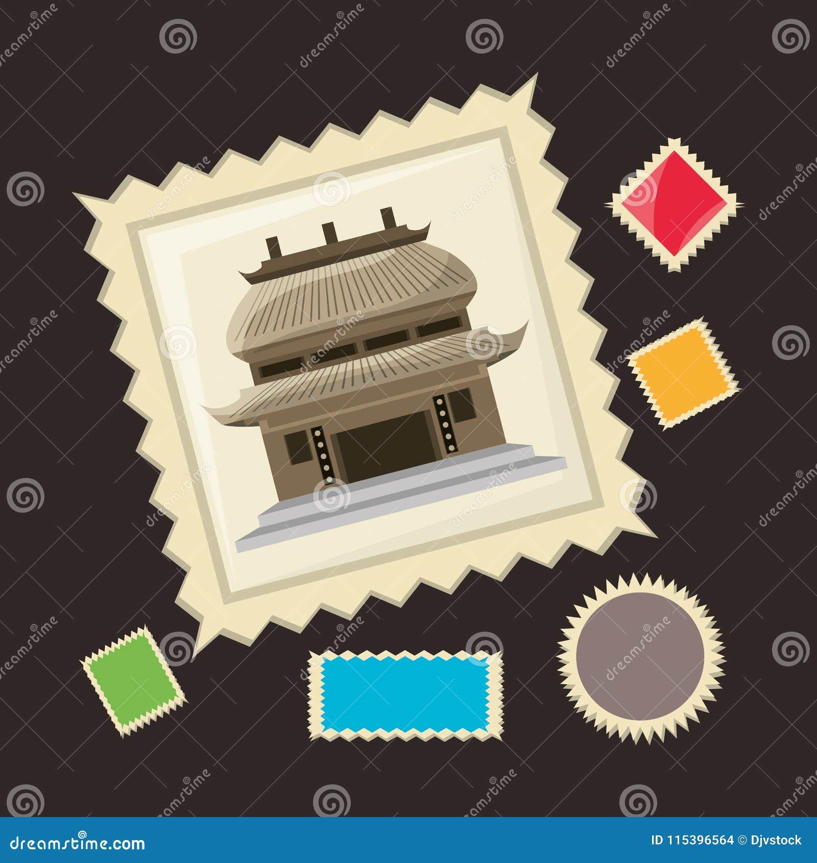 Chiński architektura obrazek pamiętać podróż