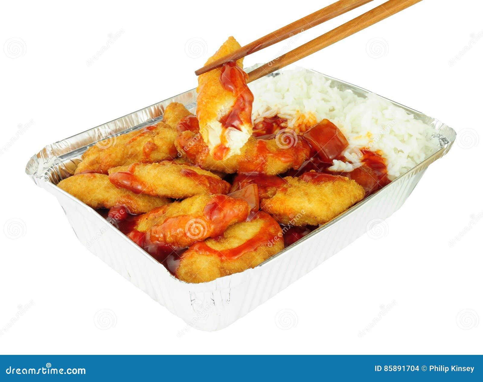 Chiński cukierki I Powyginany kurczak Rice I