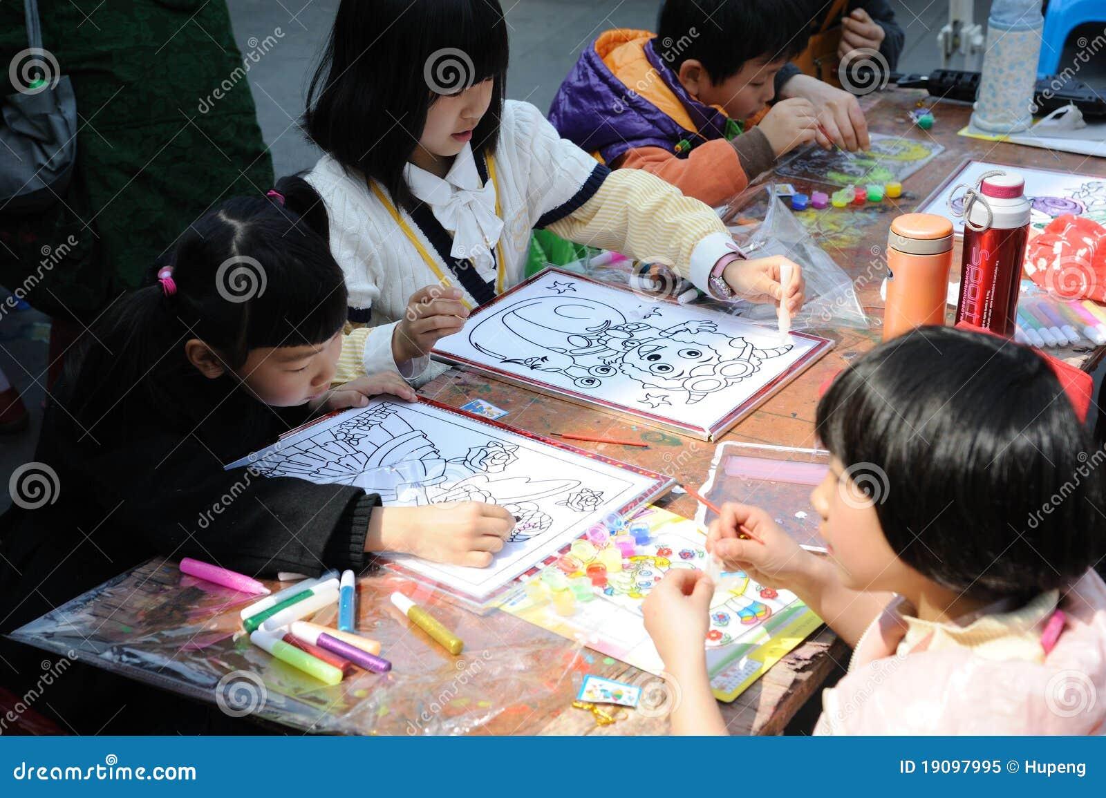 Chiński dziecko obraz