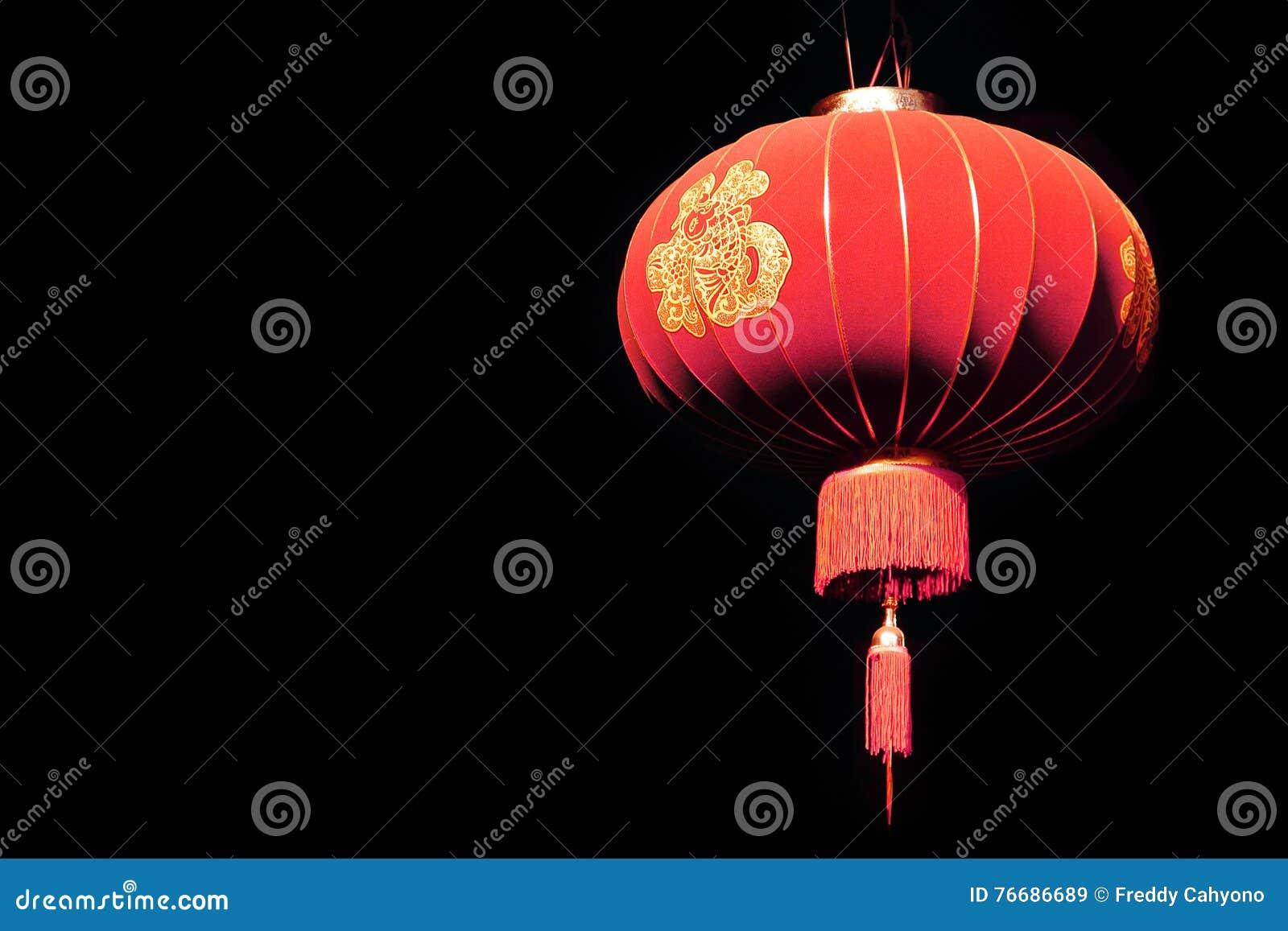 Chiński lampion w zmroku