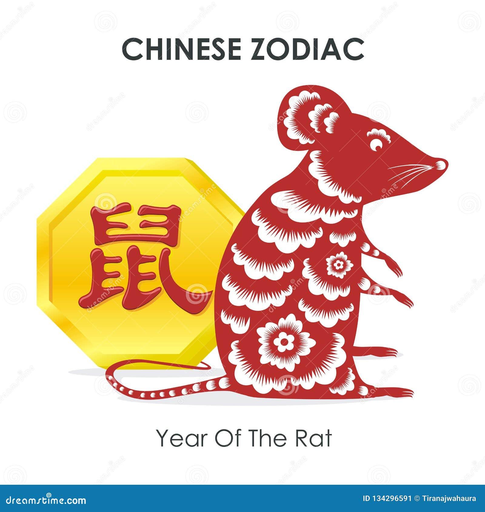 Chiński nowy rok mysz - rok szczur -