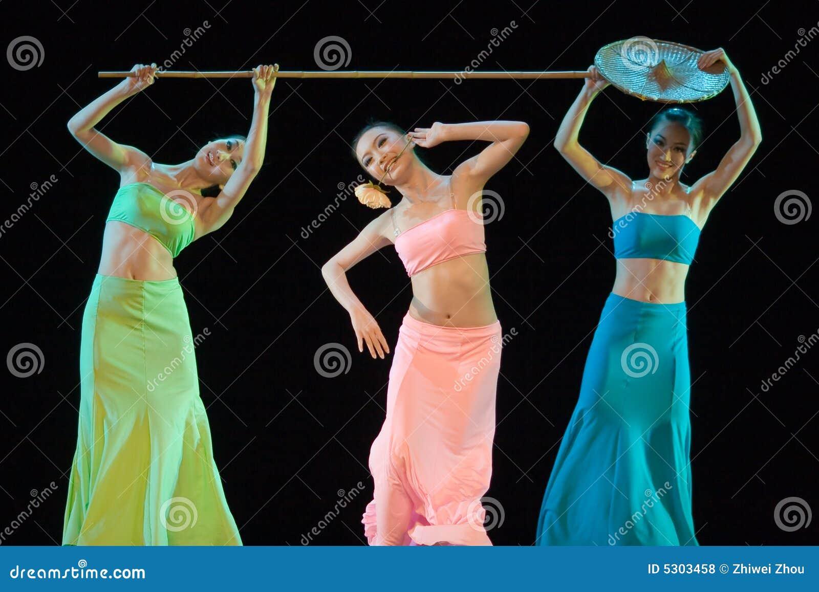 Chiński taniec ludzi