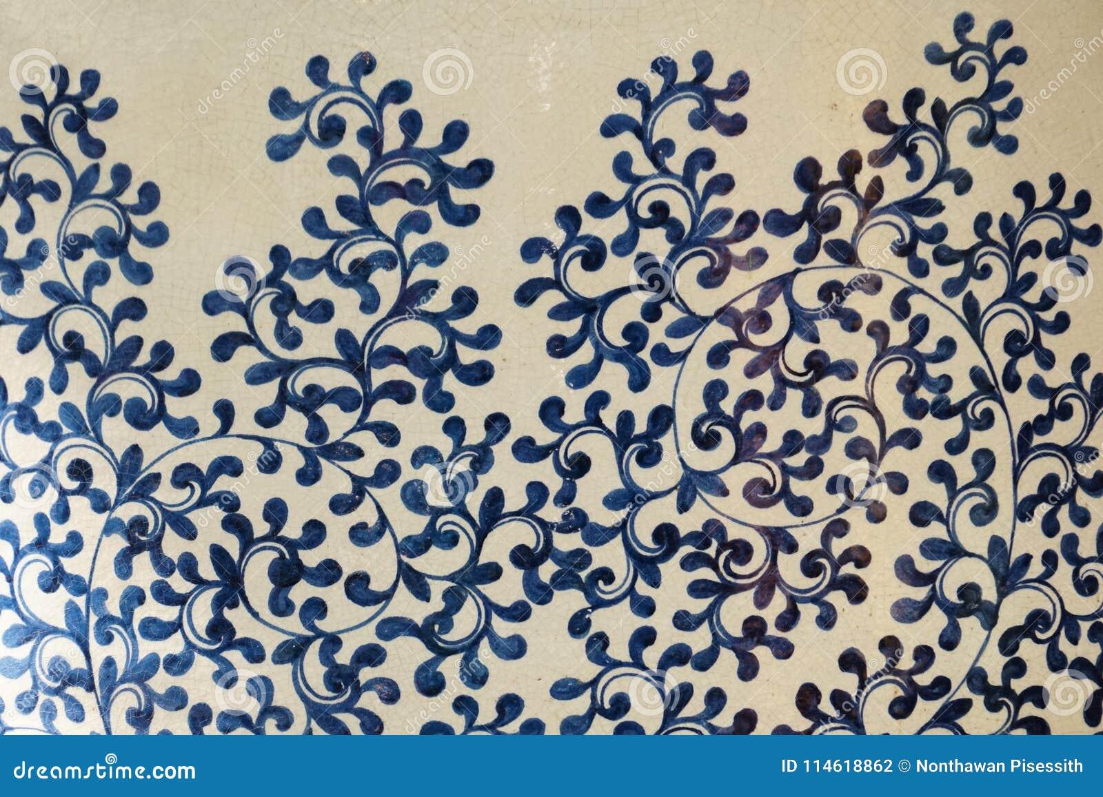 Chiński tradycyjny ceramiczny kwiatu wzór