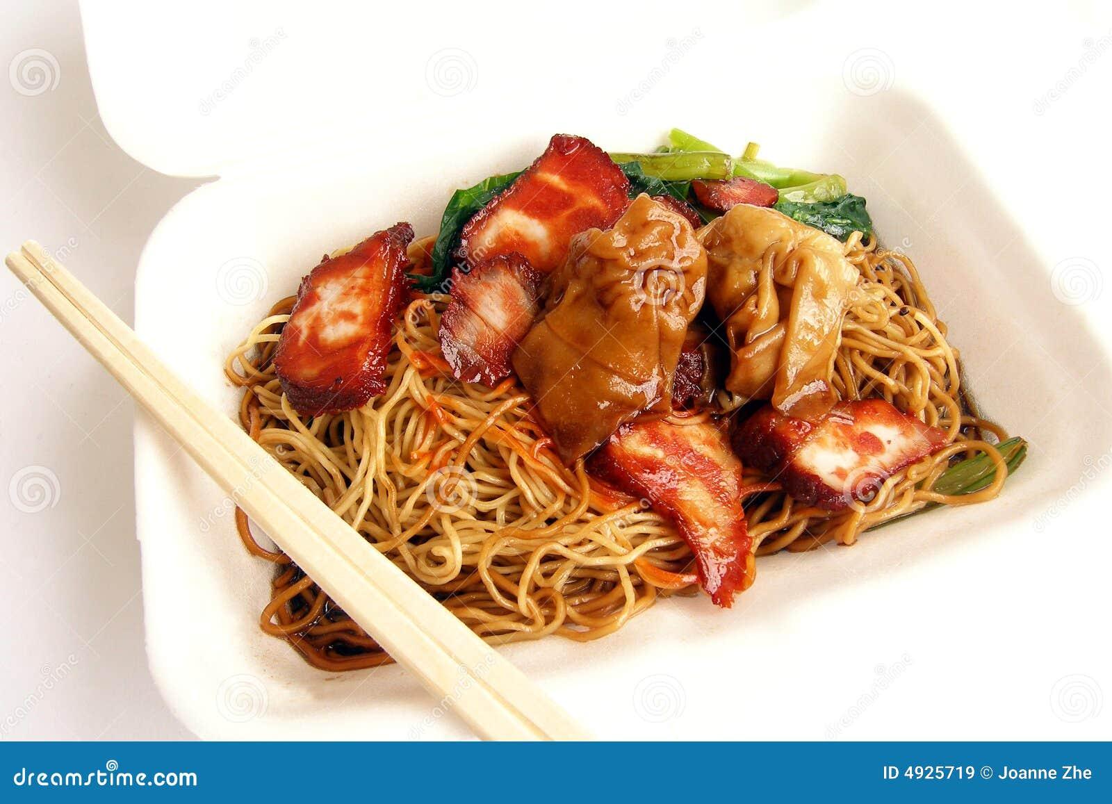 Chińskie jedzenie na wynos z duńskich