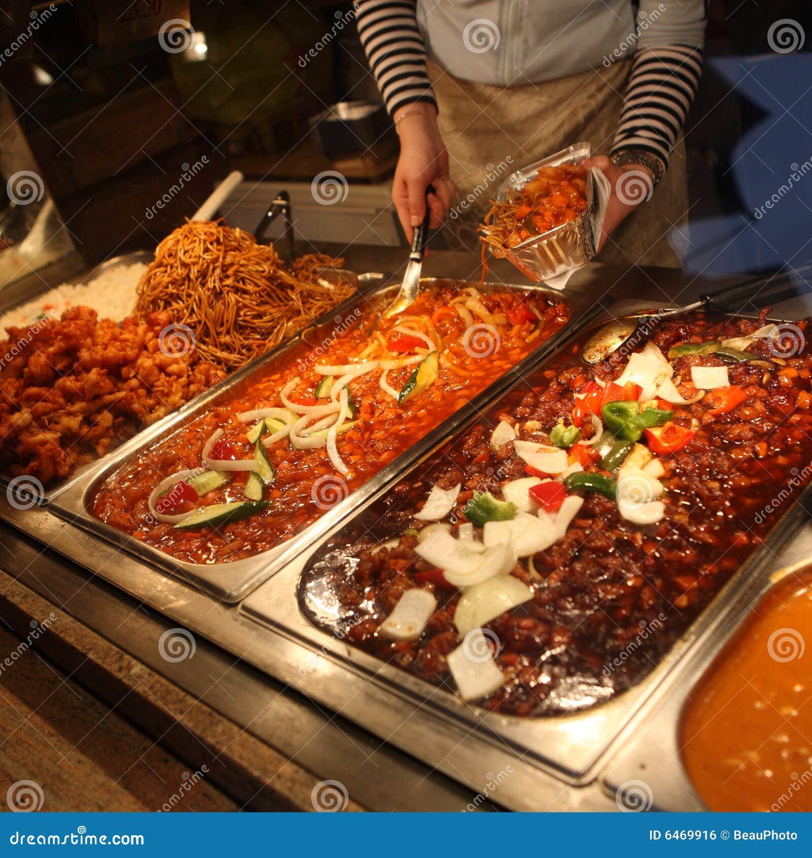 Chińskie jedzenie rynku