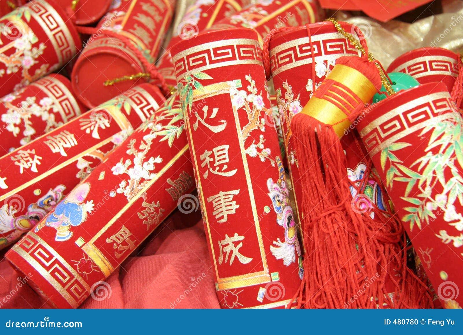 Chińskie petardy święto
