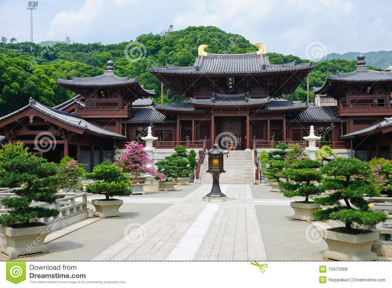 Chi lin Nunnery, Tang dynasty style Chinese temple