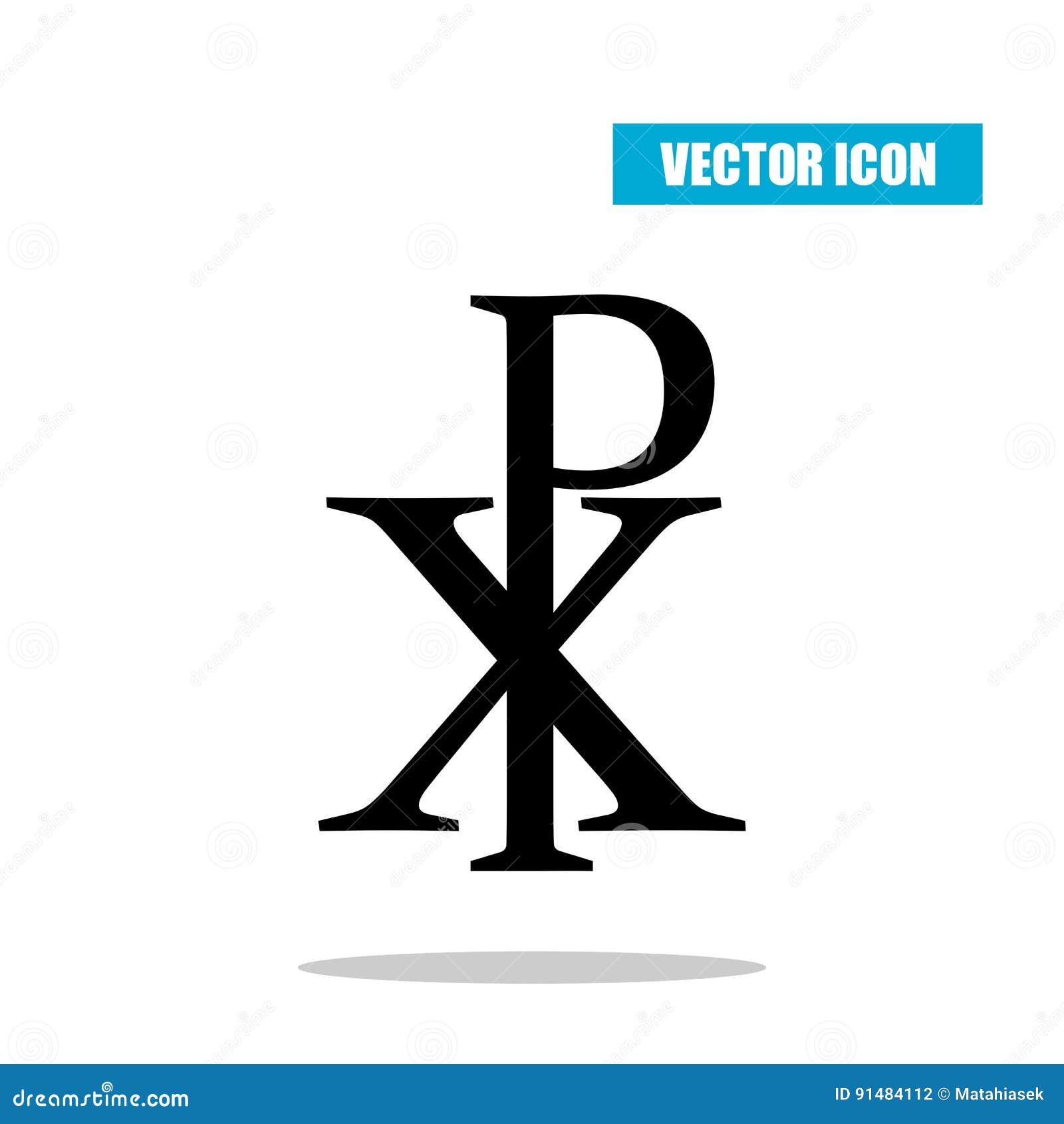 Chi rho symbol with drop shadow christogram labarum icon chi rho symbol with drop shadow christogram labarum icon isolated on white biocorpaavc Gallery