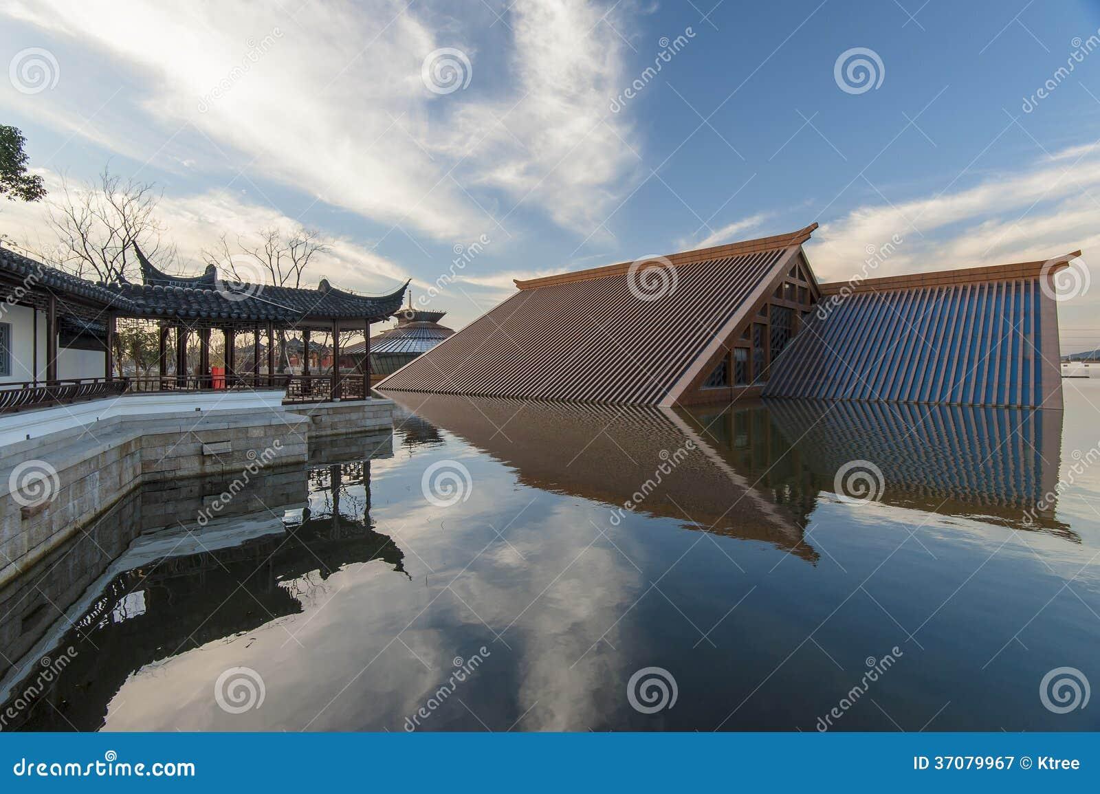 Download Chiński ludu dom obraz stock. Obraz złożonej z nikt, widok - 37079967