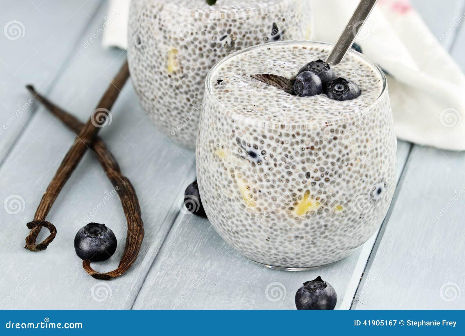 Chia Seed Pudding och frukt