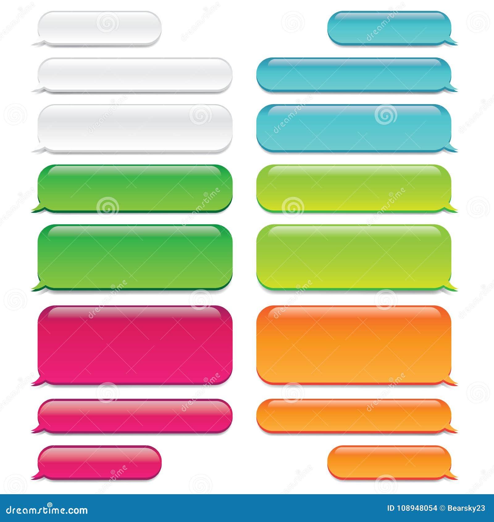 Chiacchieri l aspetto del tipo di vetro delle bolle w del messaggio - conversazione di SMS