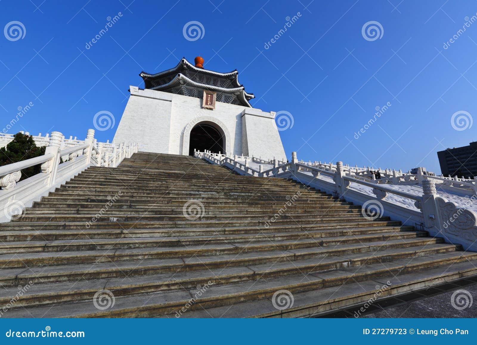 Chiang Kai-shek minnes- korridor i taiwan