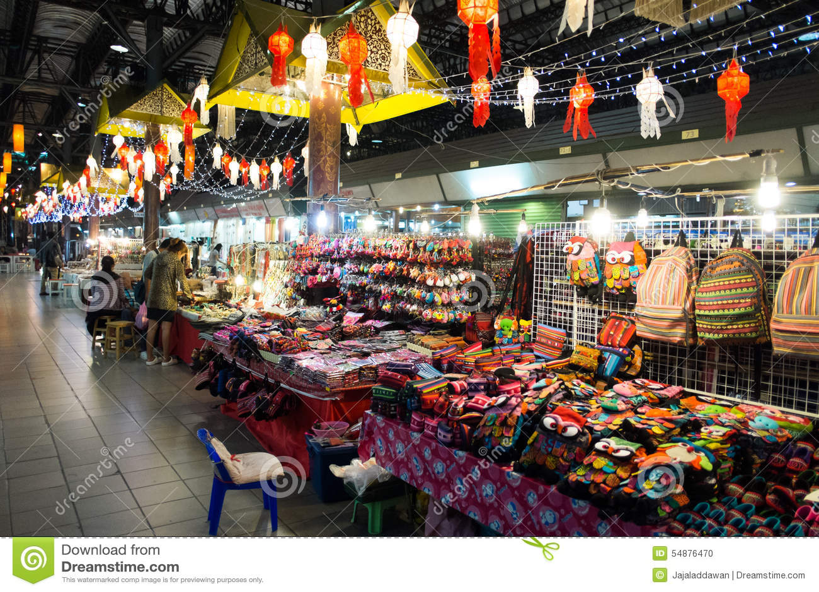 Chiang Mai Night Bazaar Editorial Image - Image: 54876470