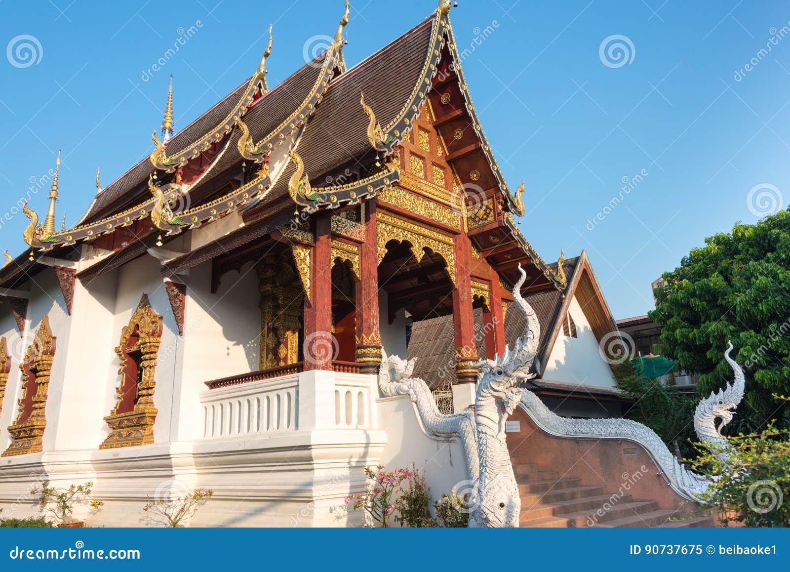 Chiang Mai, Tailandia - 24 febbraio 2015: Wat Chang Taem un Te famoso