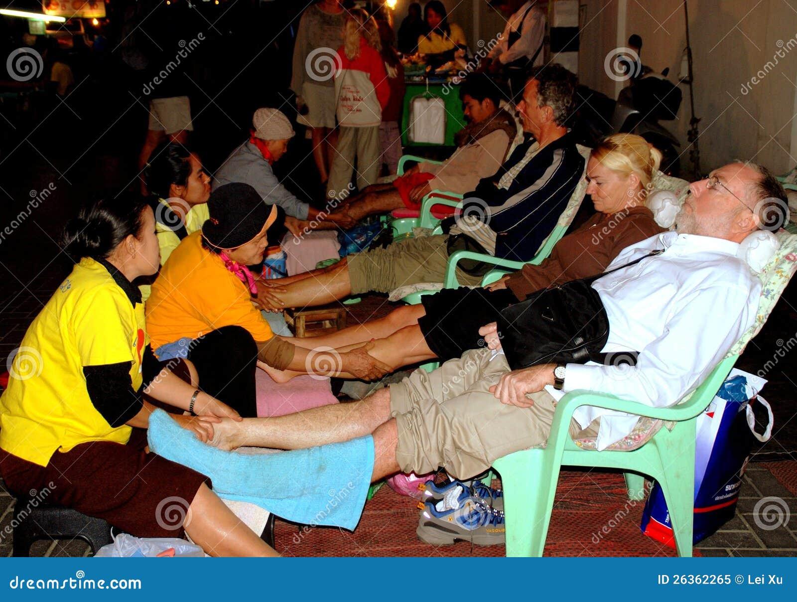 Chiang Mai, TH: Masażu nożny Zdrój