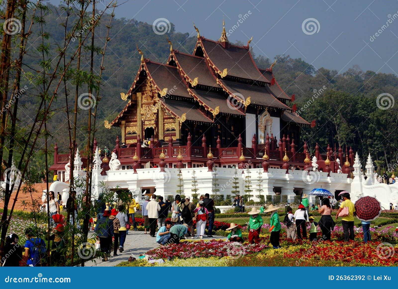 Chiang Mai, TH: Ratchaphruek Park-königlicher Pavillion