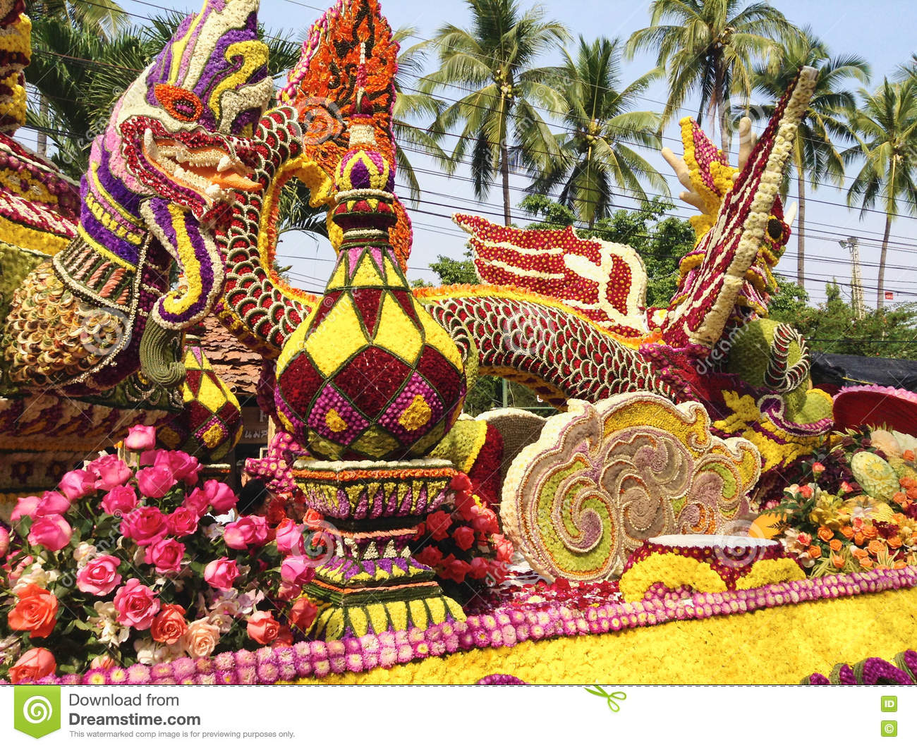 Download Chiang Mai, Thailand - 7 February 2015: Flower Festival Stock Image - Image of ceremony, february: 78542229