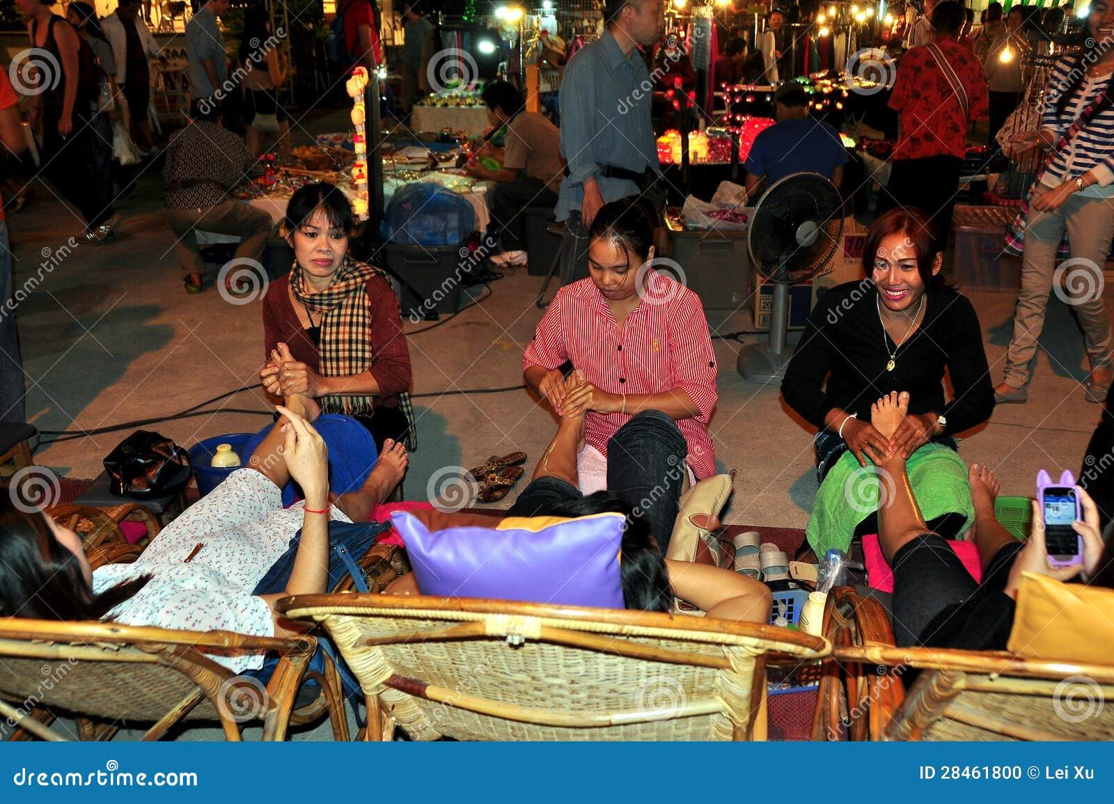 Chiang Mai Thailand Foot Massage Women Editorial Image