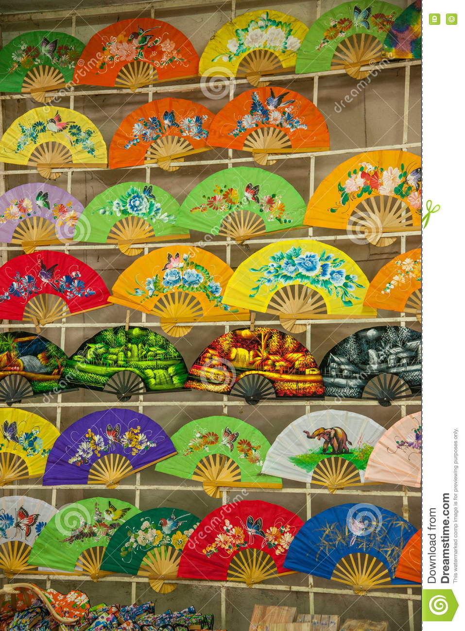 Chiang Mai Thailand Handmade Fan Stock Photo Image Of Images Antiques 76320748