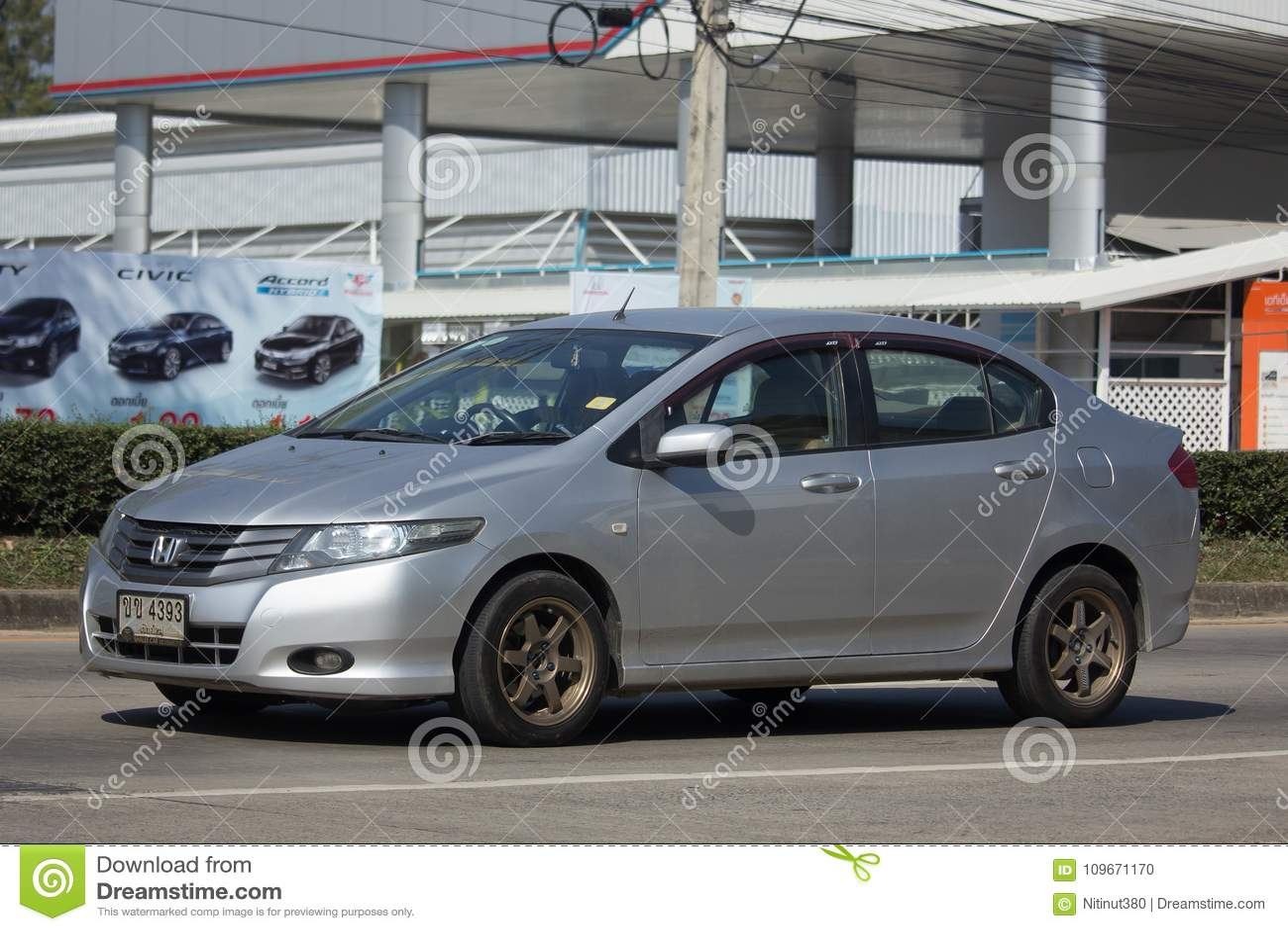 Private City Car Honda Editorial Image
