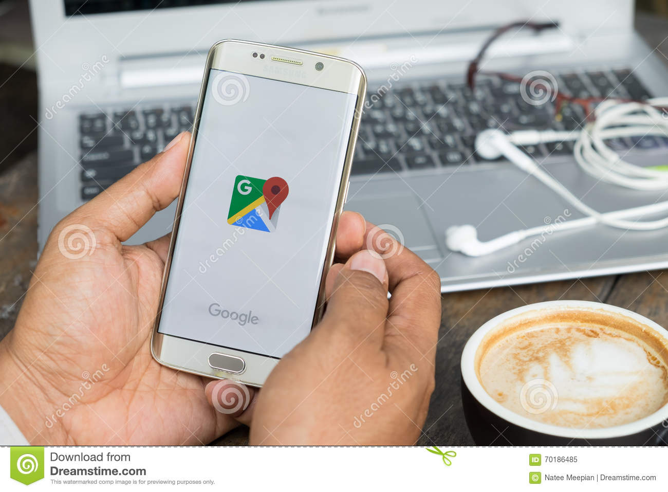 CHIANG MAI,THAILAND - MAR 16: Google Maps For Mobile