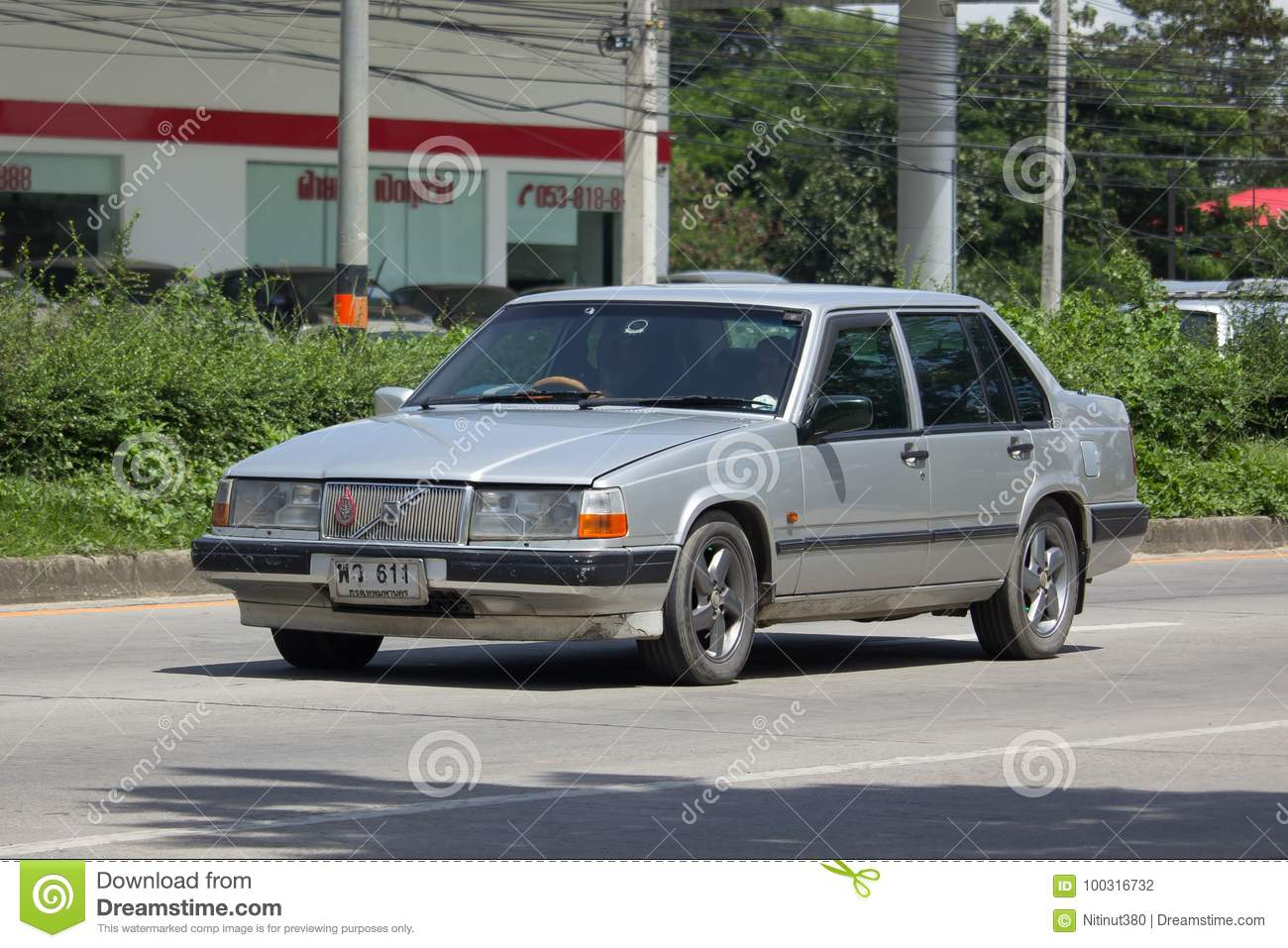 Private Old Car Volvo 740 Editorial Photography Image Of Auto 100316732