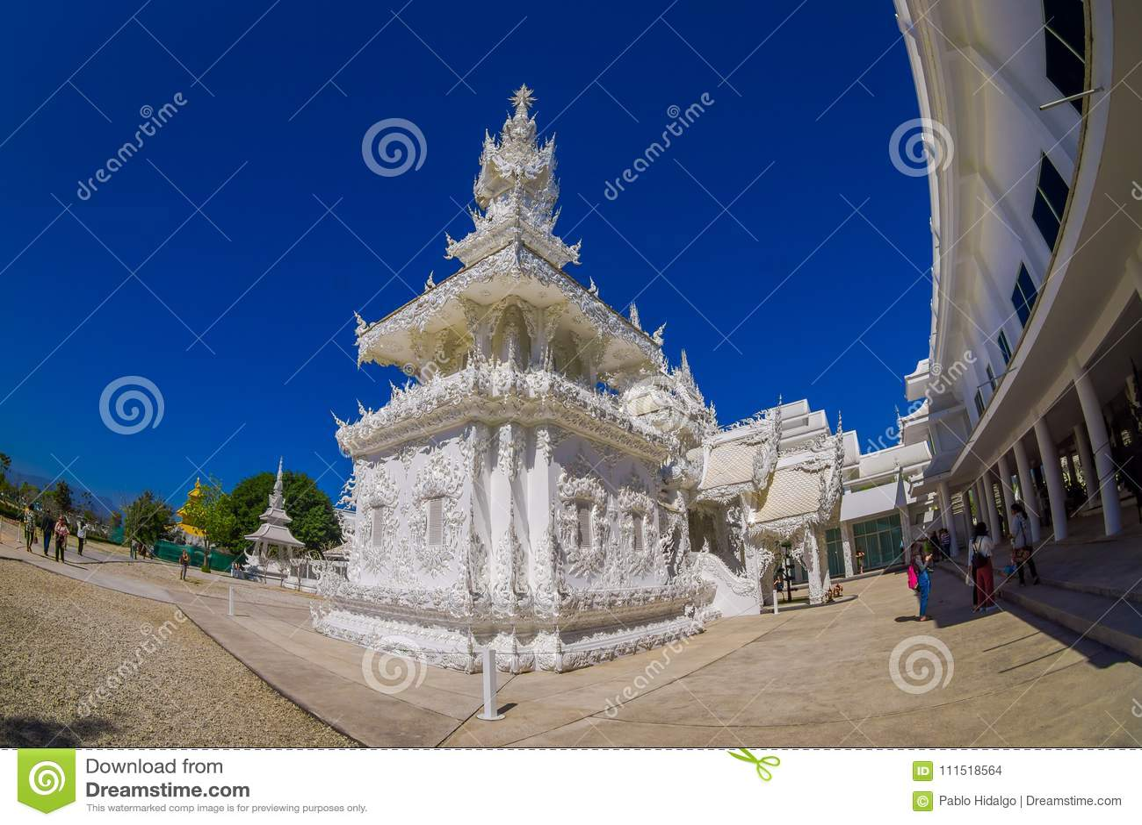 CHIANG RAI, THAILAND - FEBRUARY 01, 2018: Beautiful White