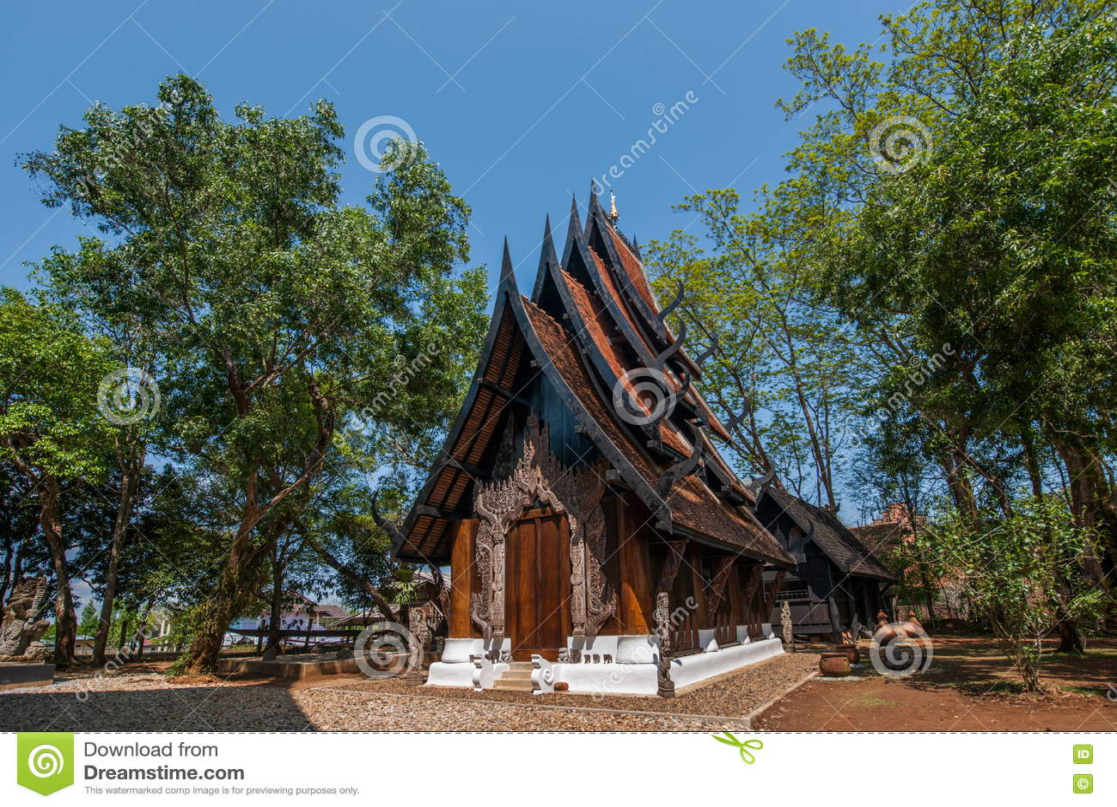 Chiang Raja w północnym Tajlandia czerni domu muzeum
