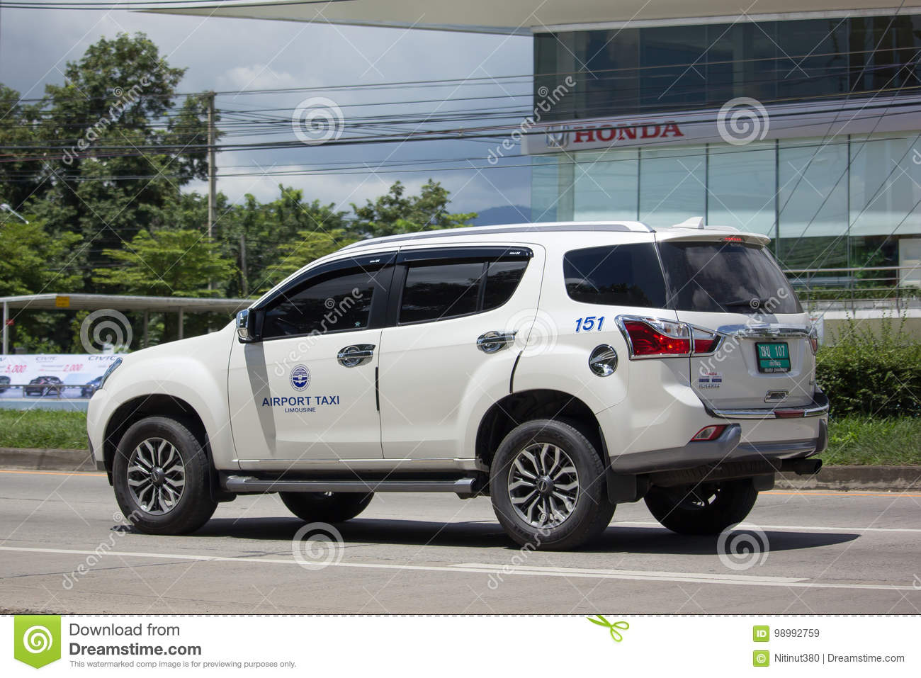 Chiangmai Airport Taxi editorial stock image  Image of