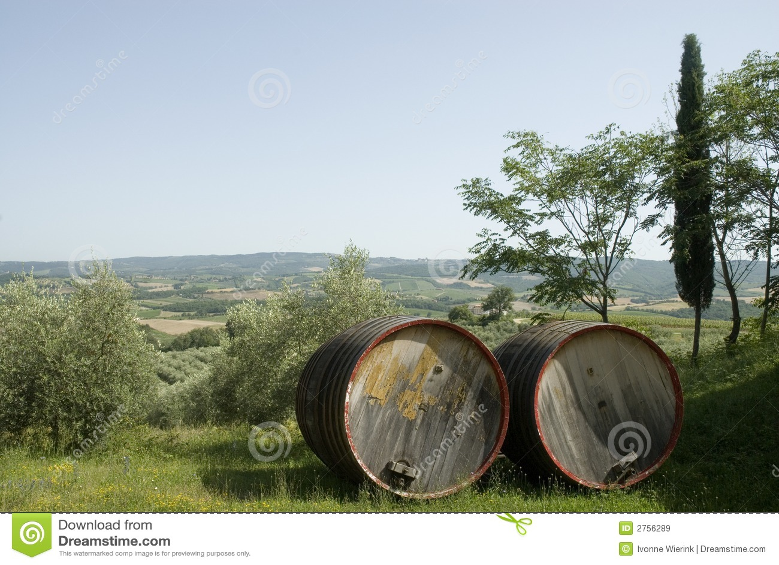 Chianti-vin en Toscane