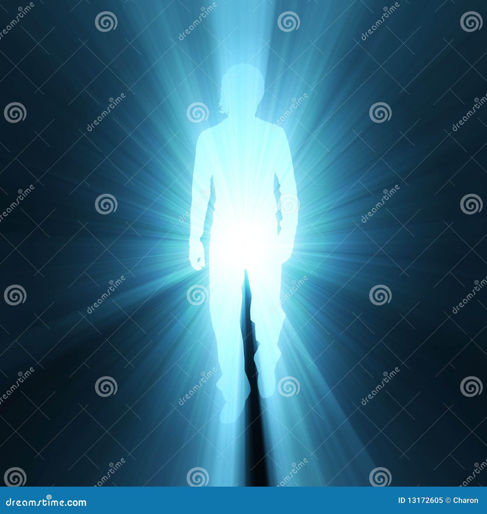Chiarore ambulante dell indicatore luminoso dell ombra di posa dell uomo