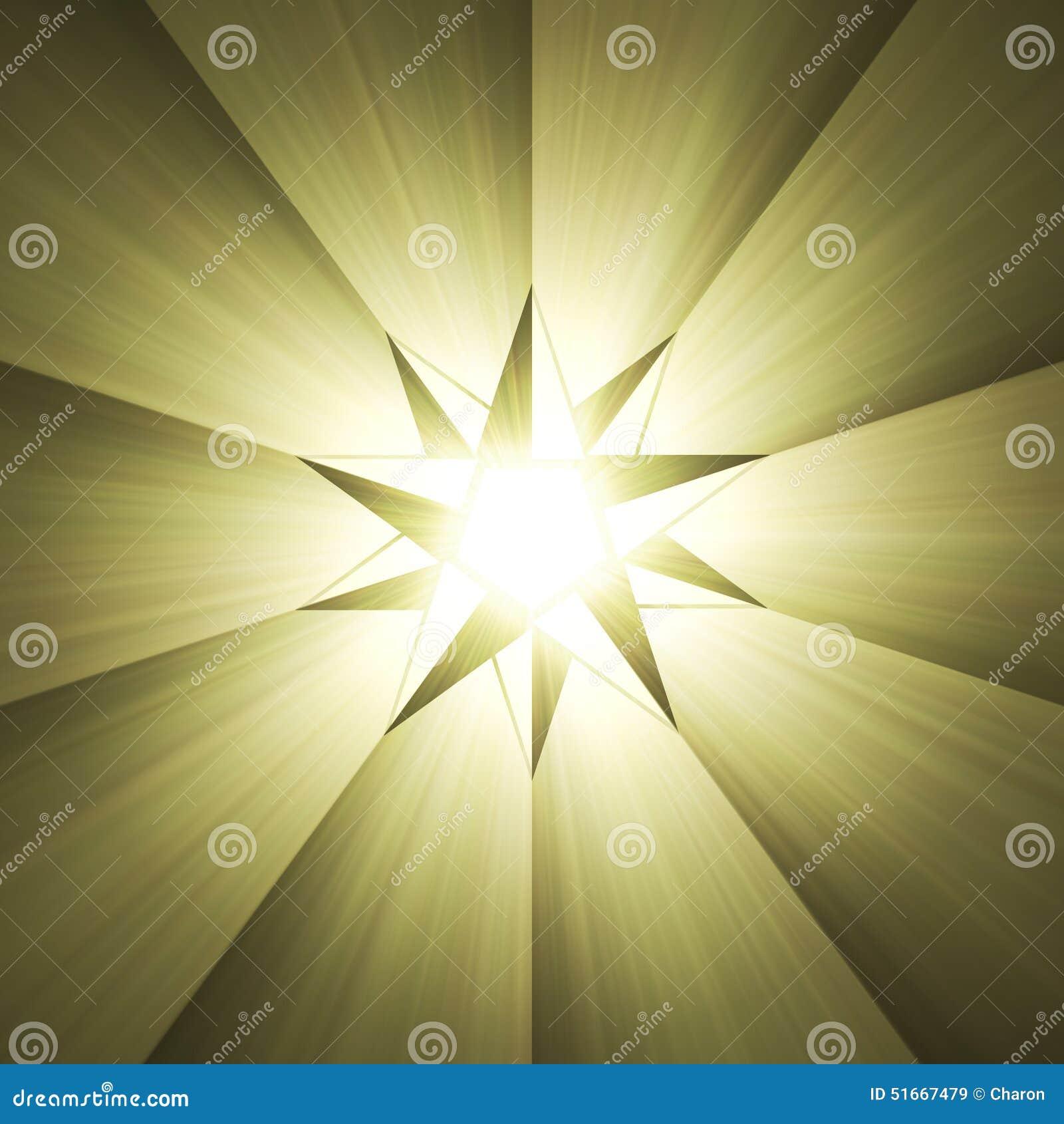Chiarore della luce della stella della bussola di otto punti
