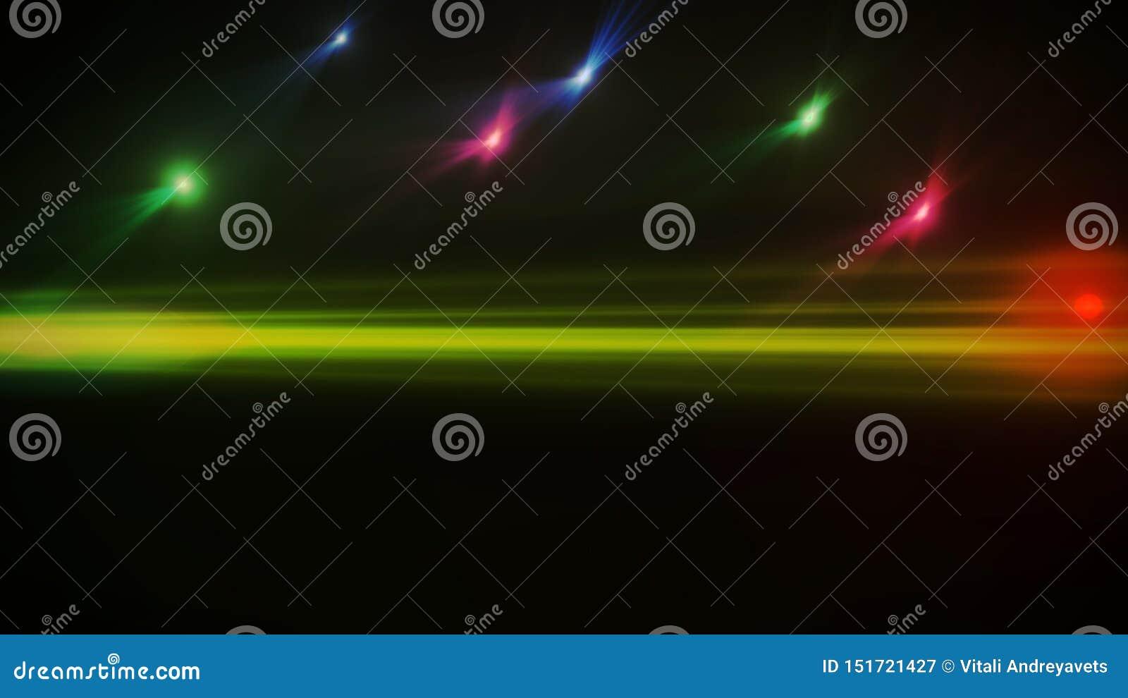 Chiarore reale della lente sparato in studio sopra fondo nero Facile aggiungere come la sovrapposizione o foto del filtro a sipar