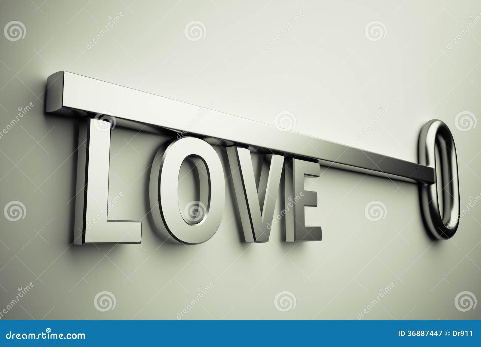Download Chiave con amore immagine stock. Immagine di isolato - 36887447