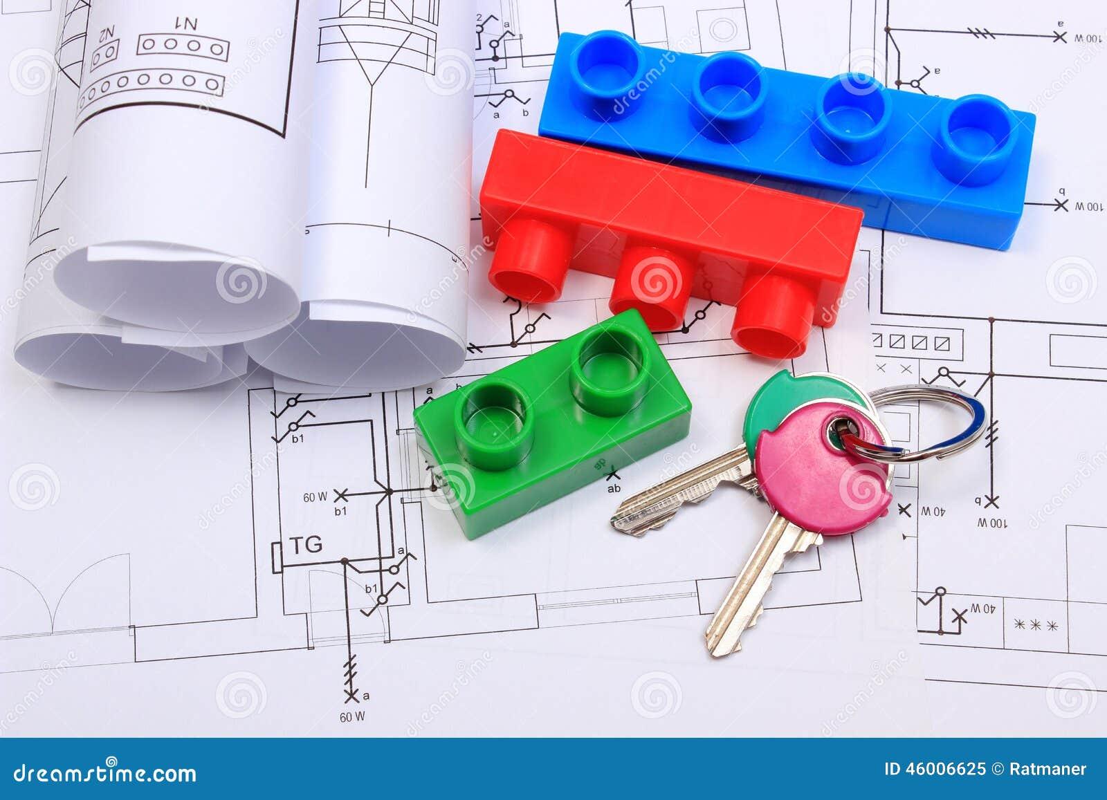 Schemi Elettrici Casa : Chiavi domestiche particelle elementari e diagrammi elettrici sul
