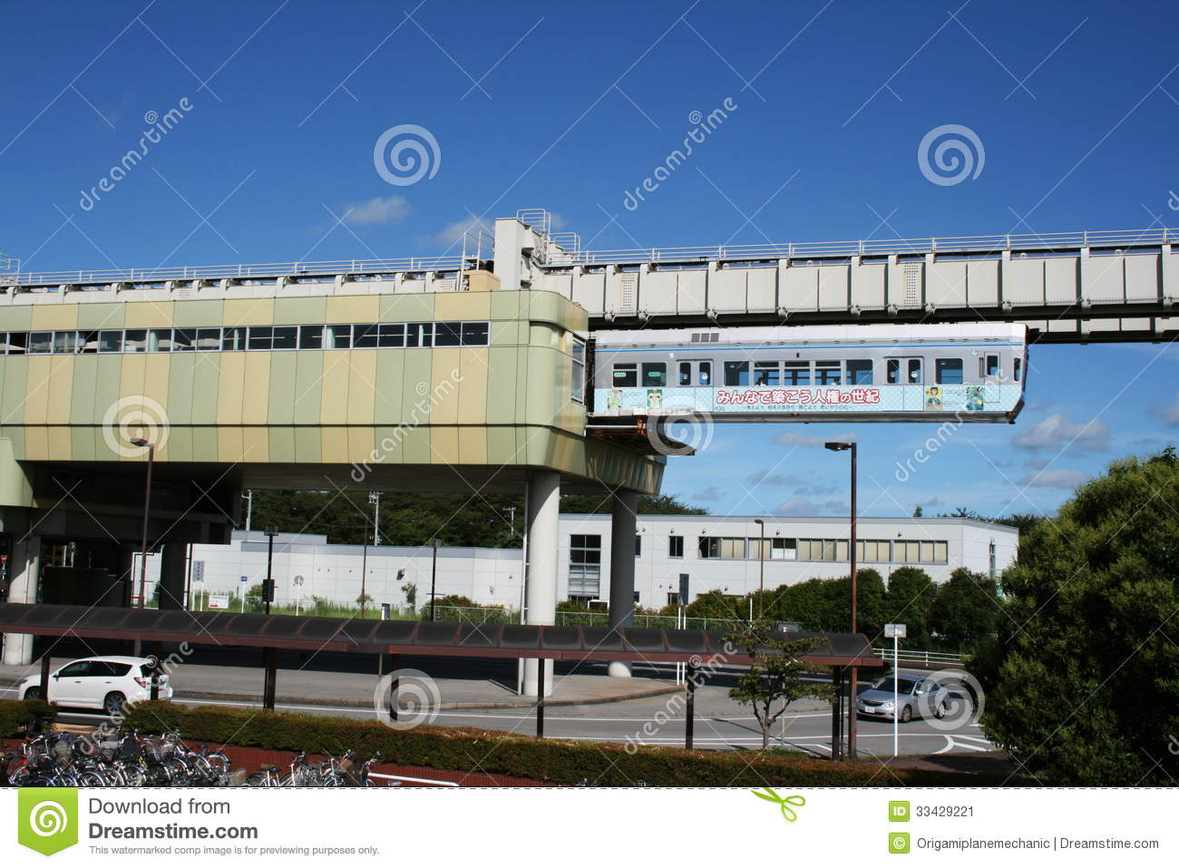 Chiba city monorail train editorial photo image of