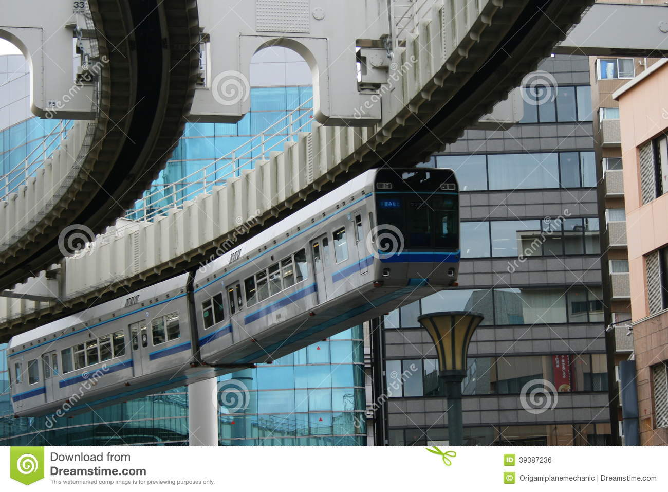 Chiba monorail in operation editorial photo image of