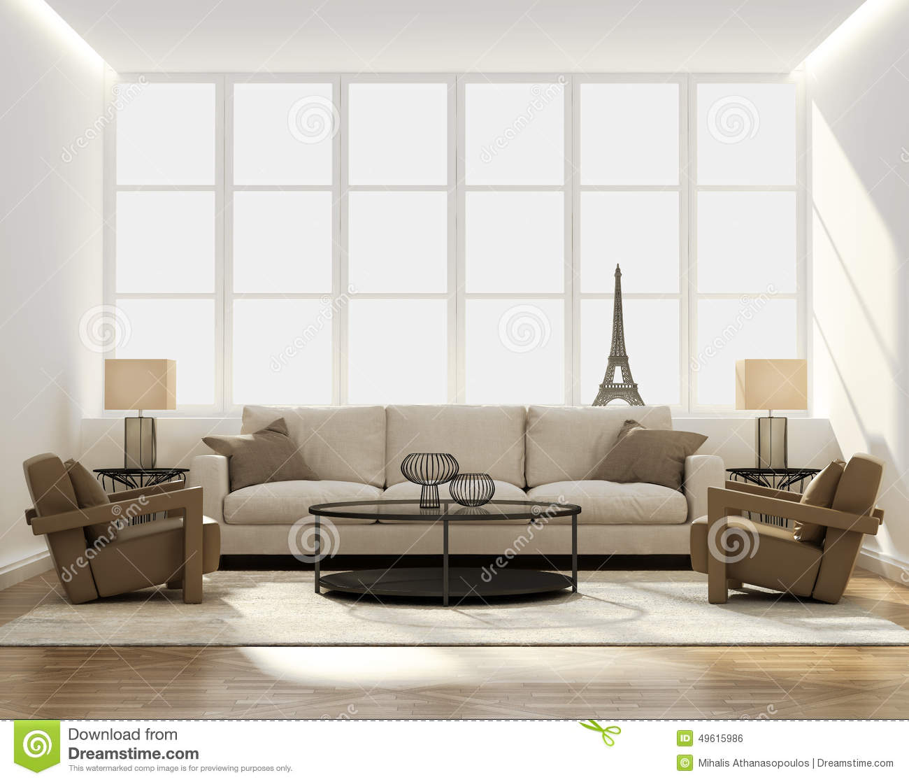 Chic Classic Elegant Luxury Living Room Stock Photo - Image of ...