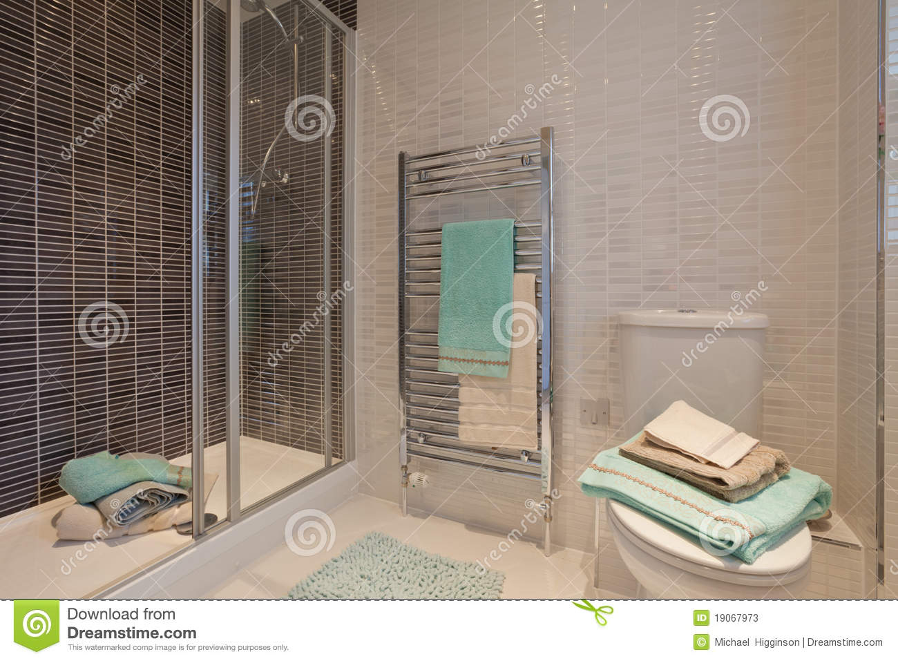Chic Modern Shower Room/wc Stock Photos - Image: 19067973