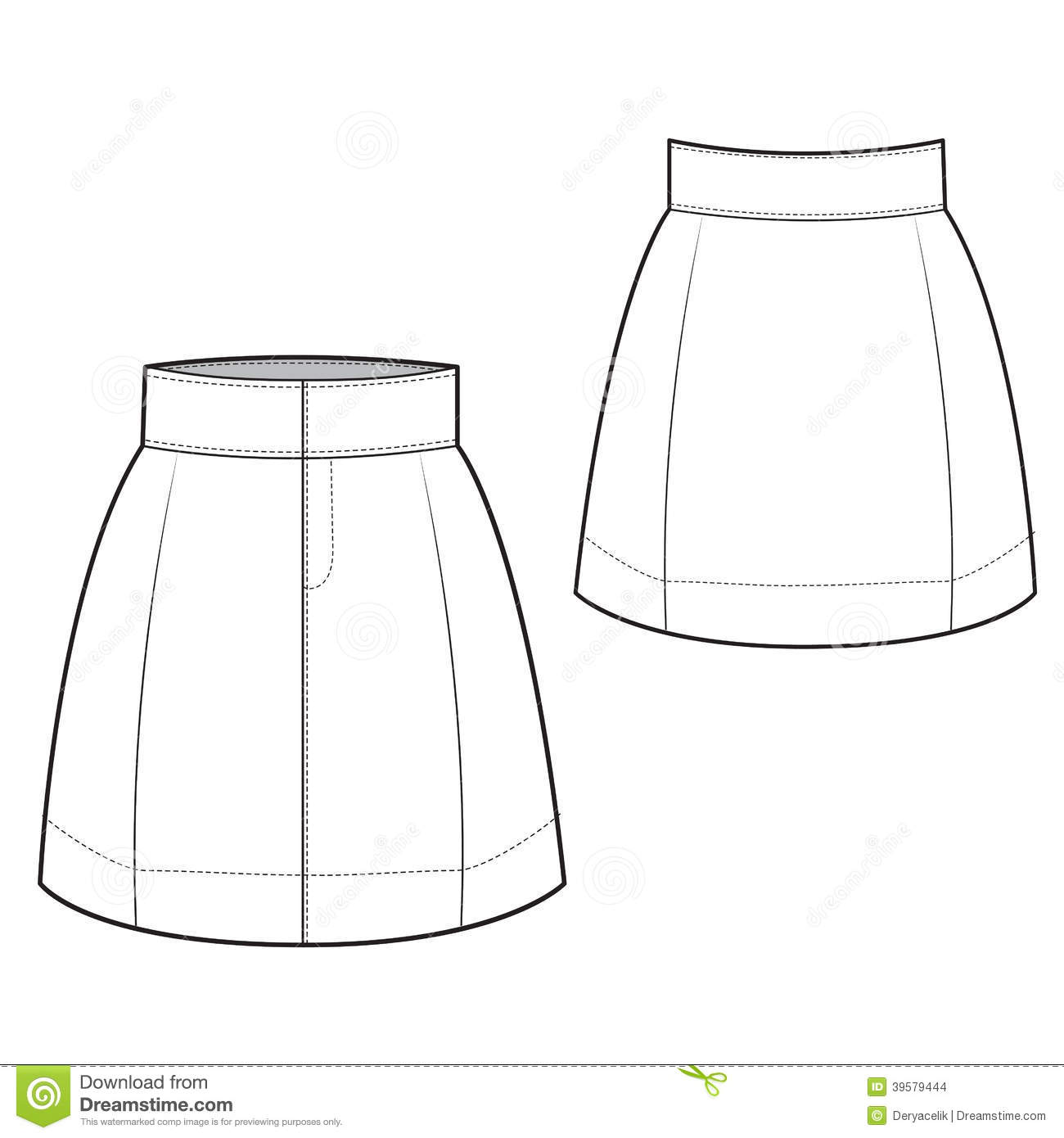 Chic Skirt Stock Vector - Image: 39579444