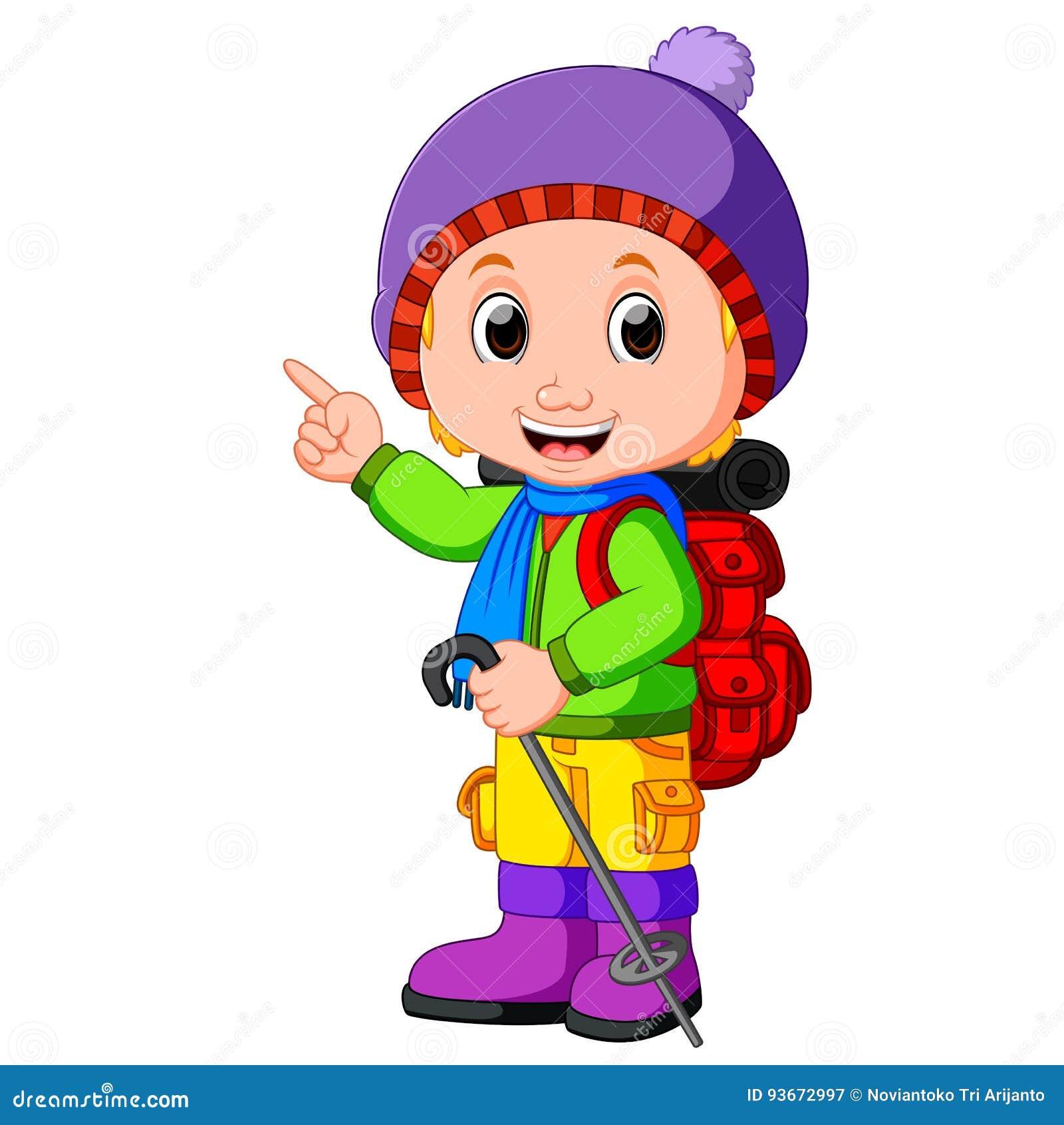 Chica joven lista para caminar