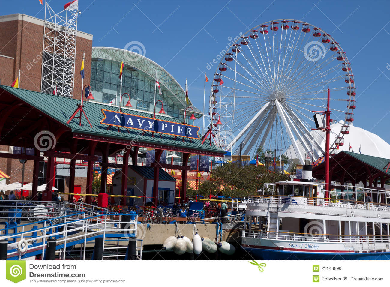 Chicaco Navy Pier Editorial Image Image 21144890