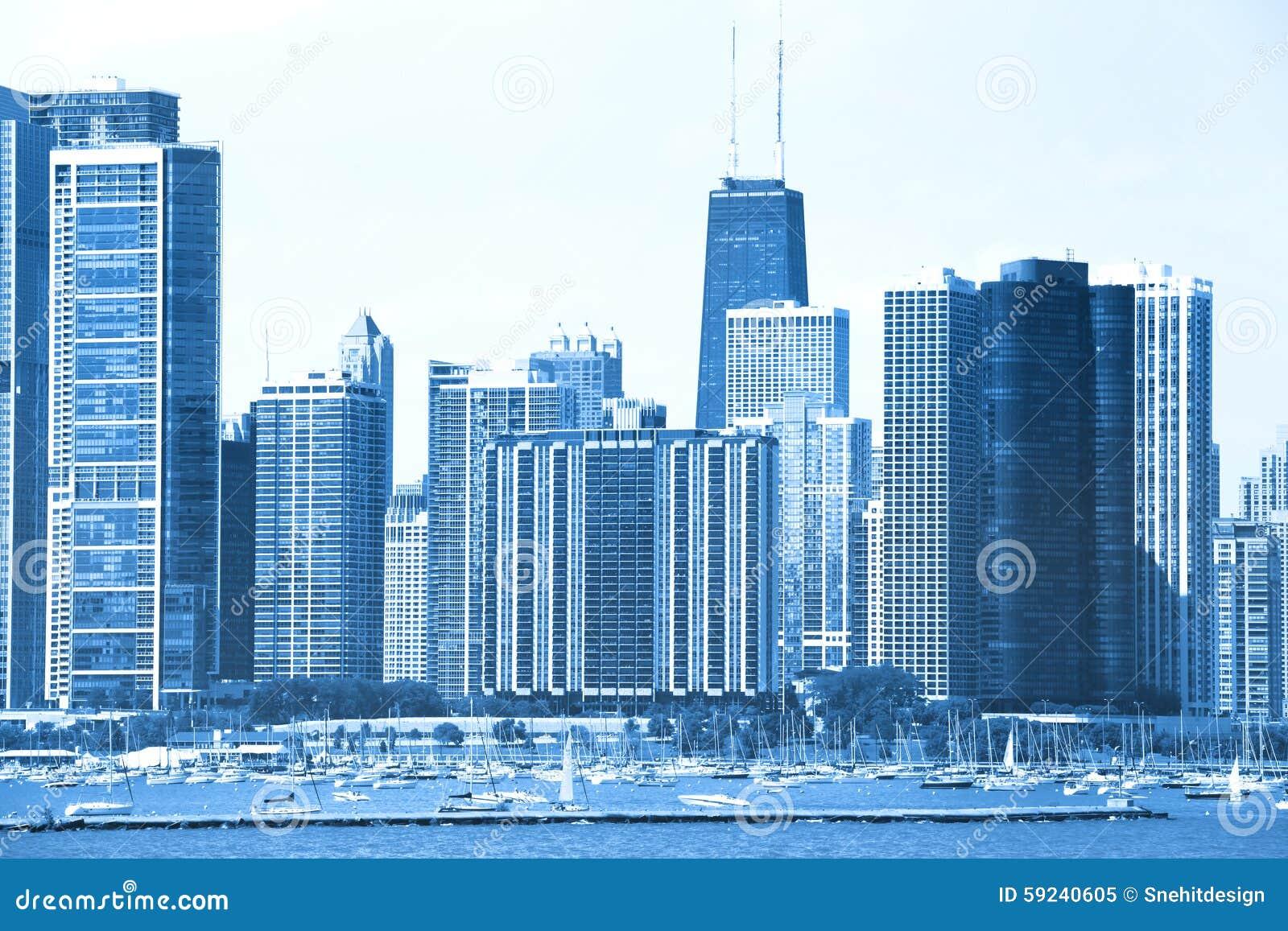 Download Chicago imagen de archivo. Imagen de lago, illinois, chicago - 59240605