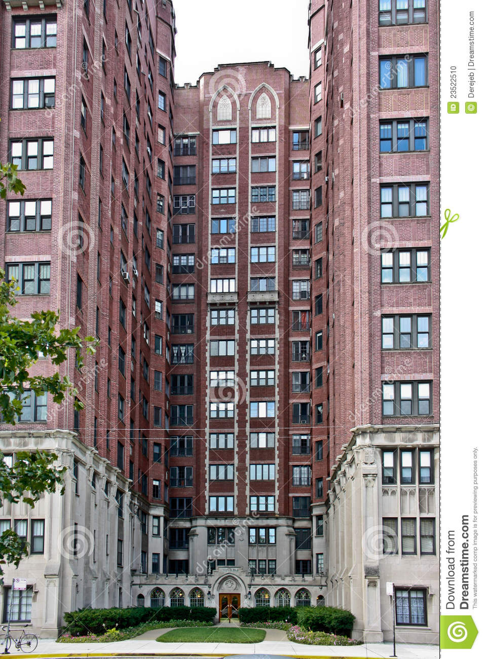 Chicago Apartment Building stock photo. Image of homes ...