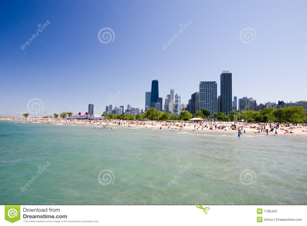 Chicago Beach Stock Image Image 1785431