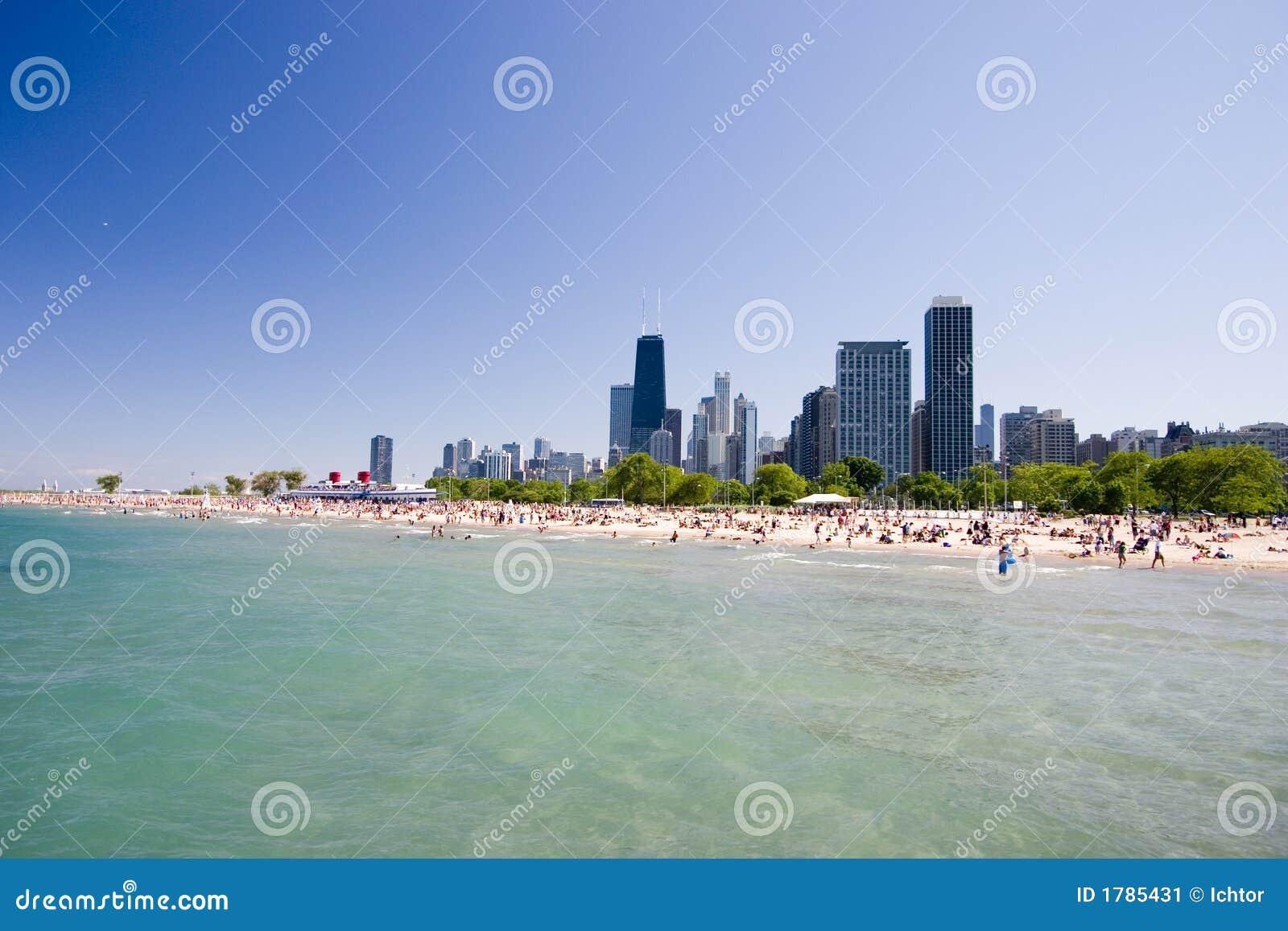 Chicago Beach Stock Image Image 1785431