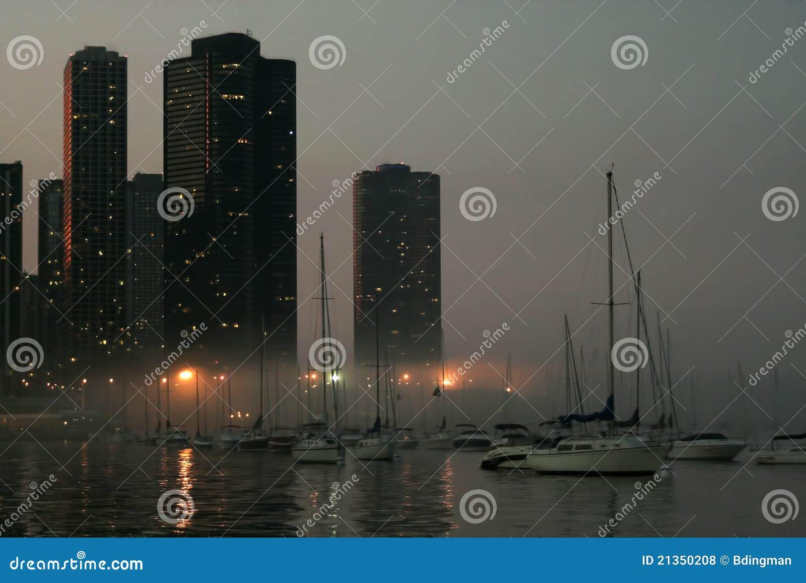 Chicago bij Nacht