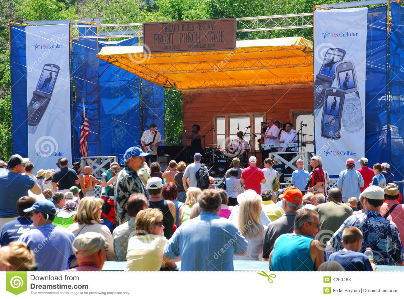 Chicago Blues Festival editorial stock photo  Image of