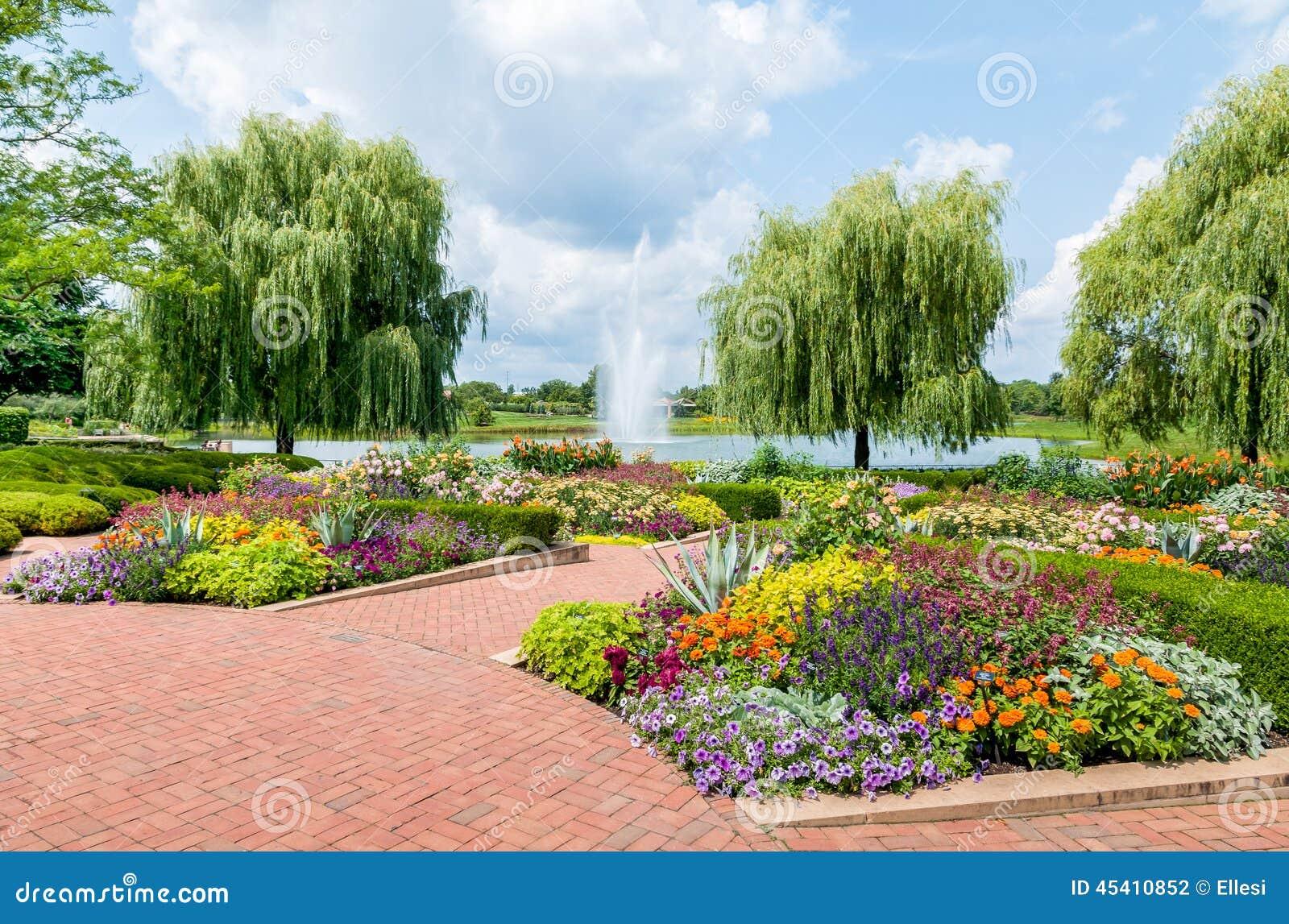 Chicago Botanic Garden Usa Stock Photo Image 45410852