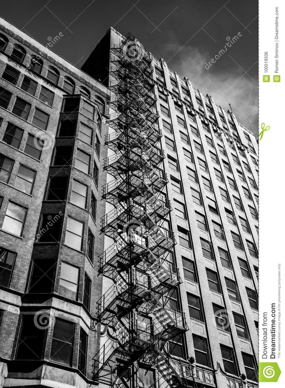 Chicago buildings black and white photography